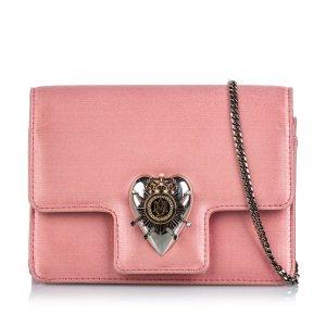 Alexander McQueen Borsa a spalla rosa pallido Seta