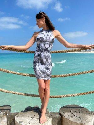 alexander McQueen Iris Kaleidoscope Designer kleid minikleid