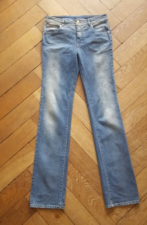 Alexander McQueen Low Rise jeans lichtblauw Katoen