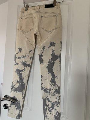 Alexander McQueen Jeans slim fit beige chiaro