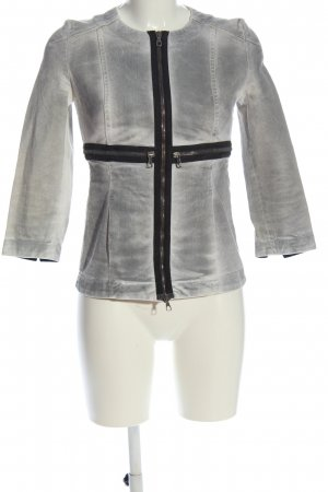 Alexander McQueen Denim Jacket light grey-black casual look