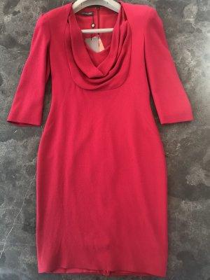 Alexander McQueen Ołówkowa sukienka malina Włókno octanowe