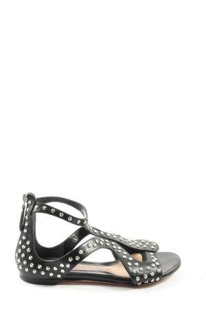 Alexander McQueen Sandalias cómodas negro look casual