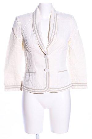 Alexander McQueen Short Blazer white-light grey striped pattern business style