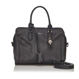 Alexander McQueen Satchel black leather