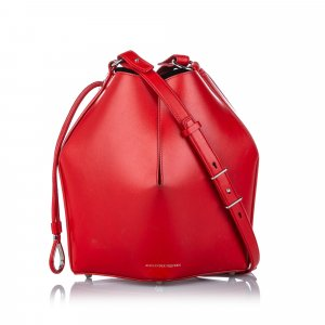 Alexander McQueen Shoulder Bag red leather