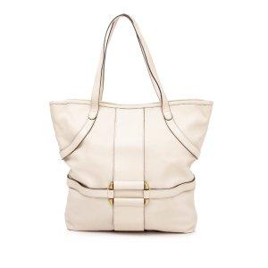 Alexander McQueen Tote white leather