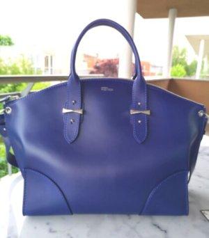 Alexander McQueen Satchel blue leather