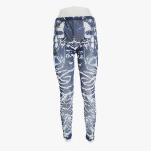 Alexander McQueen Leggings hoher Bund langbein weiß blau