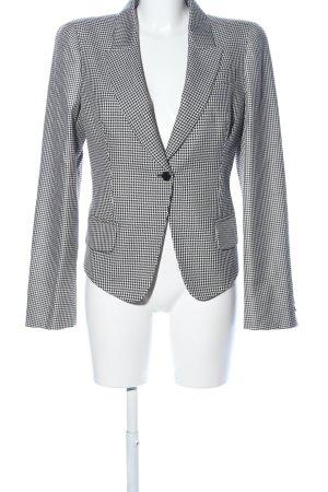 Alexander McQueen Lange blazer wit-zwart grafisch patroon zakelijke stijl