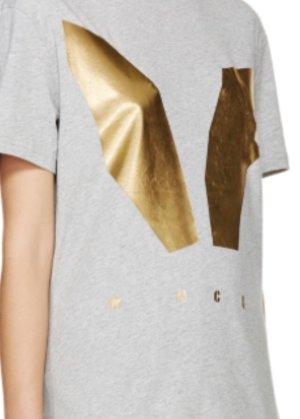 Alexander McQueen T-Shirt grey-gold-colored
