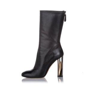 Alexander McQueen Botte noir cuir
