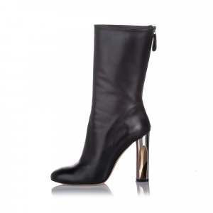 Alexander McQueen Mid-Calf Leather Boot