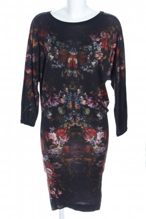 Alexander McQueen Midi-jurk volledige print casual uitstraling