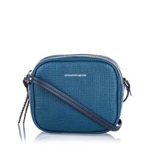Alexander McQueen Crossbody bag blue leather