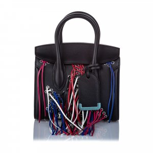 Alexander McQueen Mini Leather Tassel Heroine Satchel