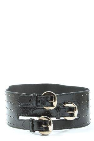 Alexander McQueen Cinturón de pinchos negro look casual