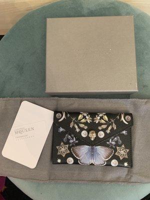 Alexander McQueen Porte-cartes noir cuir