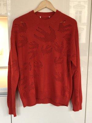 Alexander McQueen Gebreide trui rood