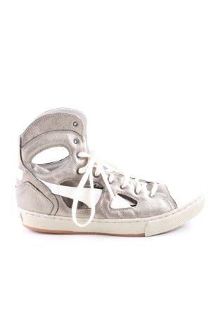 Alexander McQueen / Puma High Top Sneaker silberfarben-weiß Casual-Look