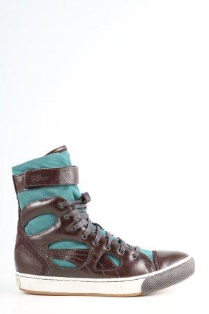 Alexander McQueen / Puma Zapatillas altas marrón-turquesa look casual