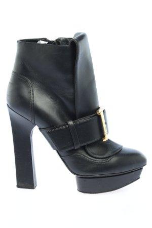 Alexander McQueen Reißverschluss-Stiefeletten schwarz extravaganter Stil