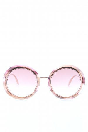 Alexander McQueen Round Sunglasses pink-gold-colored casual look