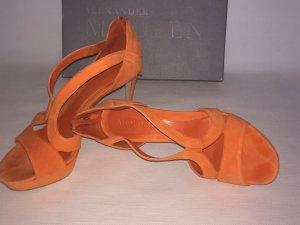 Alexander McQueen High Heel Sandal orange suede