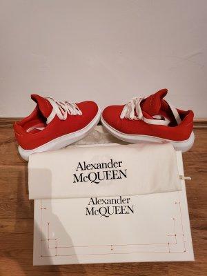 Alexander McQueen Wysokie trampki ciemnoczerwony