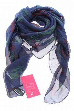 Alexander McQueen Silk Scarf themed print casual look