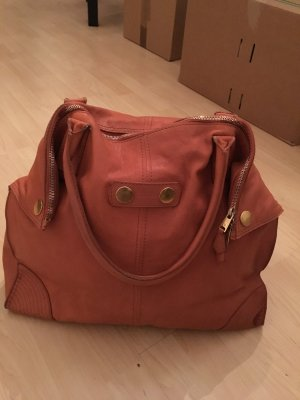 Alexander McQueen Handbag apricot-gold-colored leather