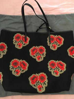 Alexander McQueen Torba shopper czarny-czerwony