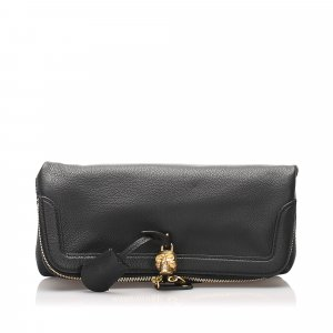 Alexander McQueen Skull Fold Over Clutch Bag