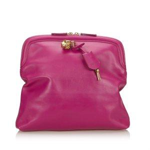 Alexander McQueen Clutch pink leather