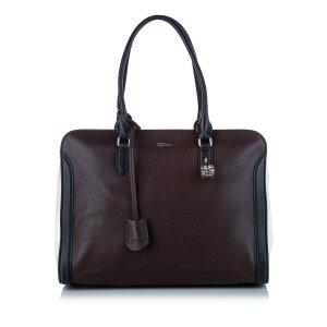 Alexander McQueen Satchel dark brown leather