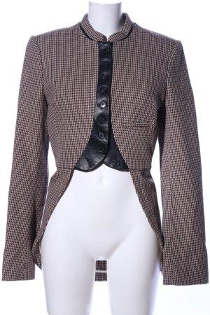 Alexander McQueen Smokingblazer bruin-wolwit volledige print zakelijke stijl