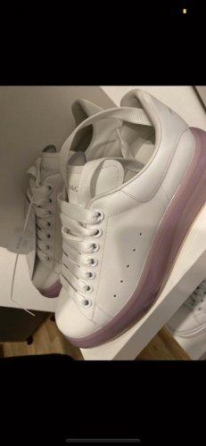Alexander McQueen Sneaker stringata bianco-rosa