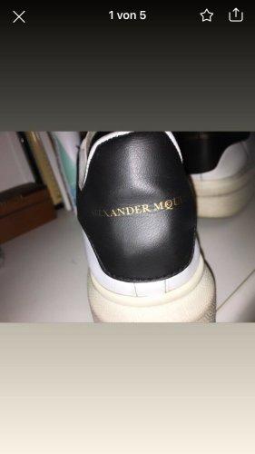 Alexander McQueen Sneakers met hak wit-zwart Leer