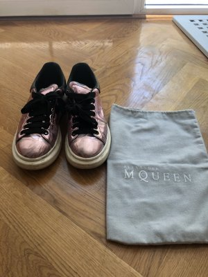 Alexander McQueen Lace-Up Sneaker rose-gold-coloured-black