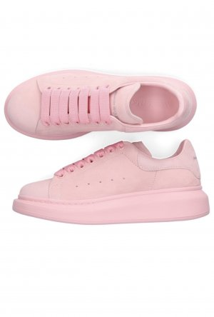 Alexander McQueen Sneaker Low Larry Veloursleder (Rosa)