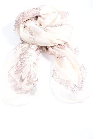 Alexander McQueen Chal veraniego blanco puro-marrón look casual
