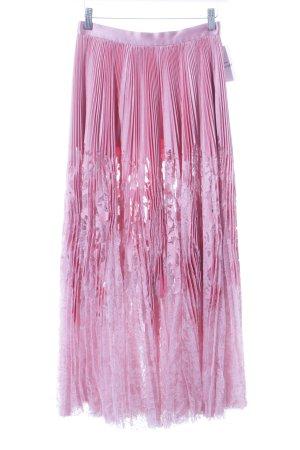 Alexander McQueen Koronkowa spódnica jasny różowy-różowy