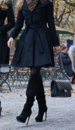Alexander McQueen Botas con tacón negro