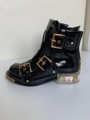 Alexander McQueen Gothic laarzen zwart