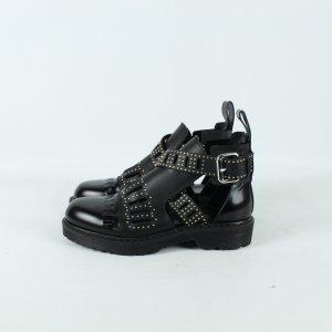 Alexander McQueen Cut out boots zwart Leer