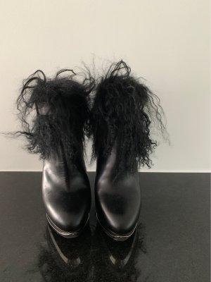Alexander McQueen Stivaletto con zip nero Pelle