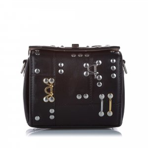 Alexander McQueen Studded Box Leather Crossbody Bag