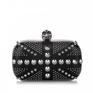 Alexander McQueen Clutch black leather