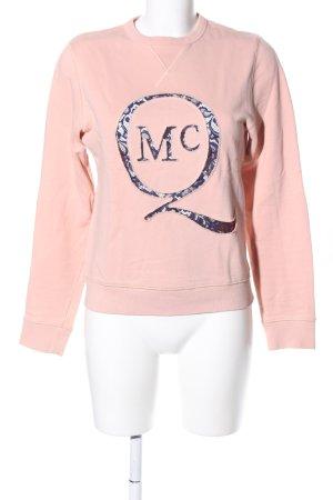Alexander McQueen Sweatshirt roze prints met een thema casual uitstraling