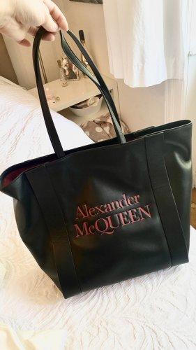 Alexander McQueen Torba shopper czarny-ciemnoczerwony